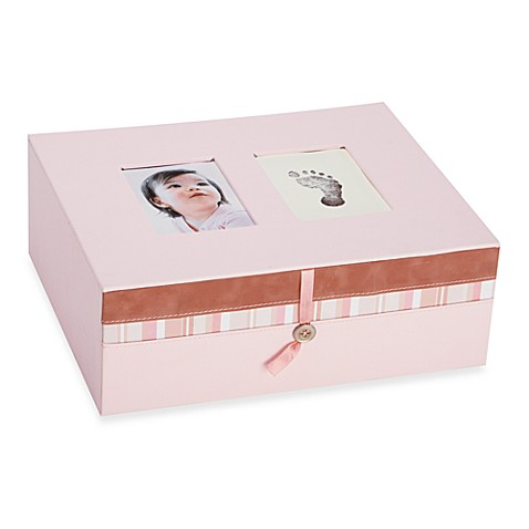 Pearhead™ Baby Prints Keepsake Box in Pink