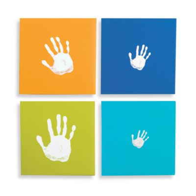 Pearhead™ Handprint Wall Art Set in Blue (Set of 4)