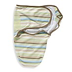 SwaddleMe® Small/Medium Adjustable Infant Wrap by Summer Infant 100% Cotton in Green Stripe