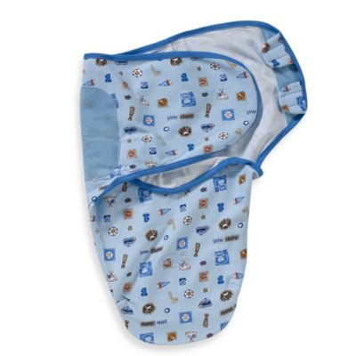 SwaddleMe® Small/Medium Adjustable Infant Wrap by Summer Infant 100% Cotton in Blue Champ