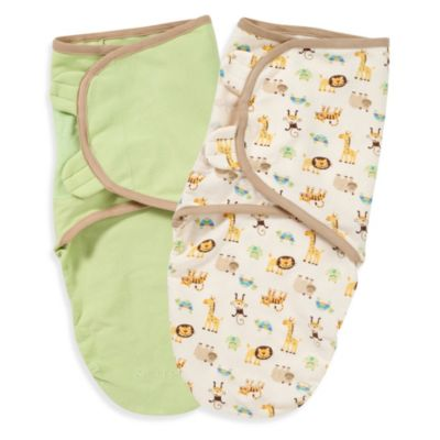 Summer Infant® SwaddleMe® Zoo Small/Medium 100% Organic Cotton Infant Wrap (Set of 2)
