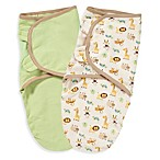 SwaddleMe® Zoo Small/Medium Infant Wrap100% Organic Cotton by Kiddopotamus® (Set of 2)