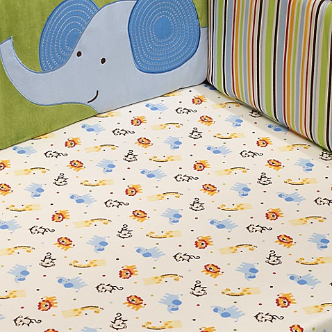 TOO GOOD™ by Jenny McCarthy Jungle Jubilee Crib Sheet, 100% Cotton, 200 Thread Count