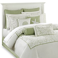 Harbor House™ Brisbane Comforter Set in White/Sage
