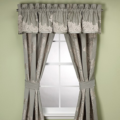 Anastasia Aqua Window Panels and Valance