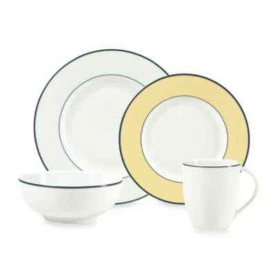 Mikasa® Concentric Butter 4-Piece Place Setting