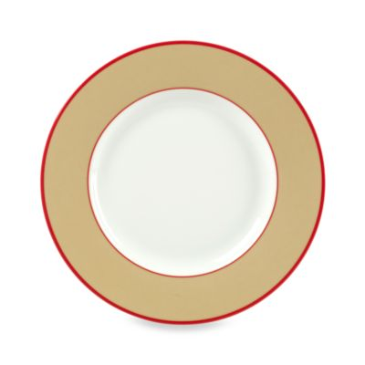 Brown White Salad Plate