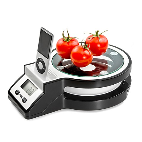 Friel in g 11-Pound Digital Kitchen Scale with iPod® Docking Station