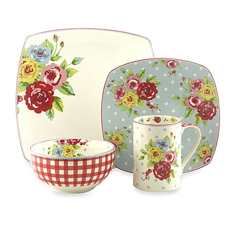 222 Fifth New Country 16-Piece Dinnerware Set