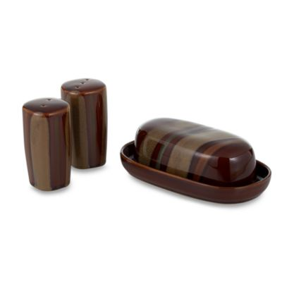 Sango Avanti Brown 4-Piece Hostess Set