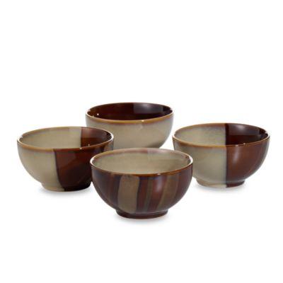 Sango Avanti Brown 18 oz. Ice Cream Bowls (Set of 4)