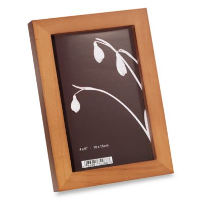 Prinz Soho Wood 4-Inch x 6-Inch Photo Frames in Dark Walnut (Set of 4)
