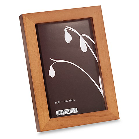 "Soho Oak Wood 4"" x 6"" Photo Frames (Set of 4)"