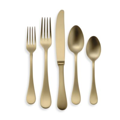Oneida® Vivanti Alessandra 5-Piece Flatware Place Setting in Gold
