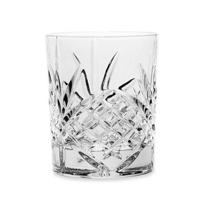 Godinger Dublin 8-Ounce Crystal Double Old Fashioned Glasses (Set of 4)
