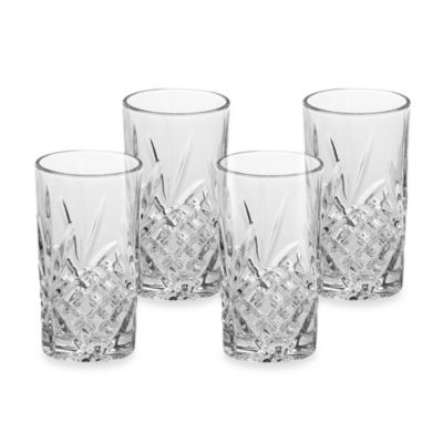 Godinger Dublin Reserve 10-Ounce Crystal High Ball Glasses (Set of 4)