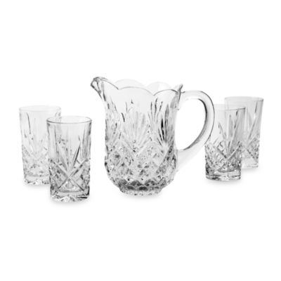 Godinger Dublin Crystal Pitcher 5-Piece Set