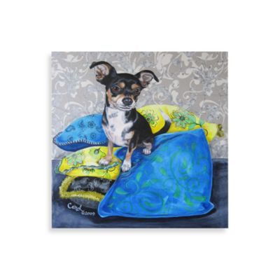 Chihuahua On Pillow Art Work