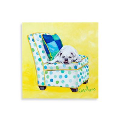 Bulldog on Polka Dots Wall Art