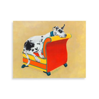 Great Dane on Orange Wall Art