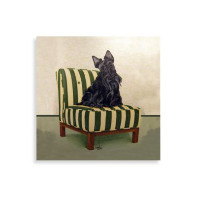 Scottie on Stripes Wall Art