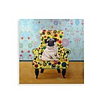 Pug on Dots Wall Art