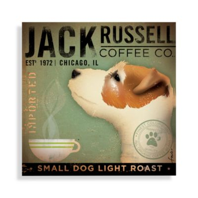 Jack Russell Coffee Wall Art