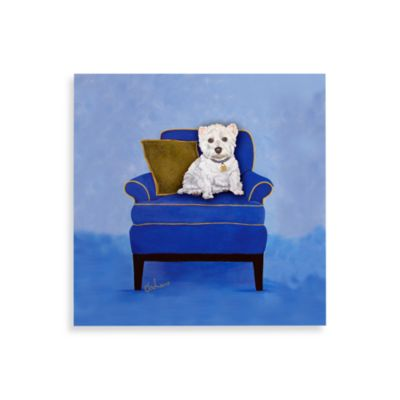 Westie on Blue Wall Art
