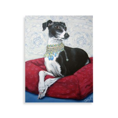 Italian Greyhound on Red Wall Art