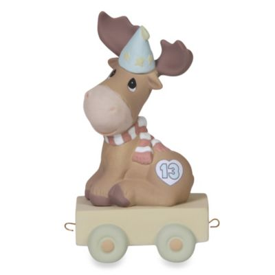 Precious Moments® Birthday Train Porcelain Figurine in Age 13