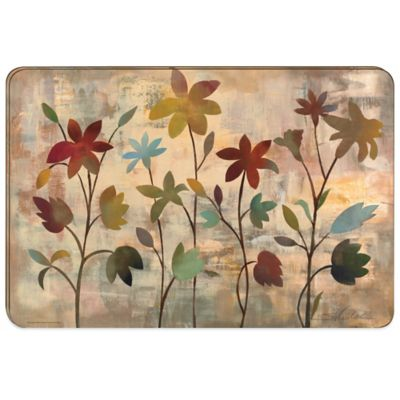 Rainbow Garden Hard Backed Placemats (Set of 2)