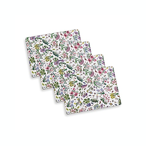 Portmeirion Botanic Garden Chintz Hardback Placemats (Set of 4)