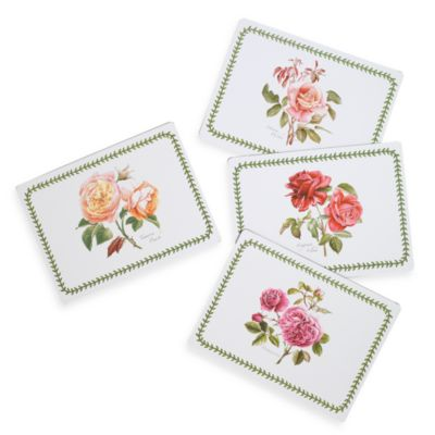 Portmeirion Botanic Roses Hardback Placemats (Set of 4)