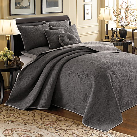Vallejo Grey Twin Reversible Bedspread