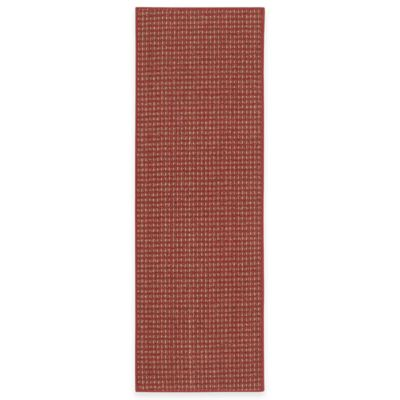 Berber Striped 5-Foot x 7-Foot 6-Inch Room Size Rug in Crimson