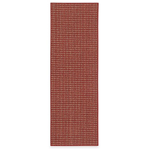 Berber Striped Accent Rug in Crimson
