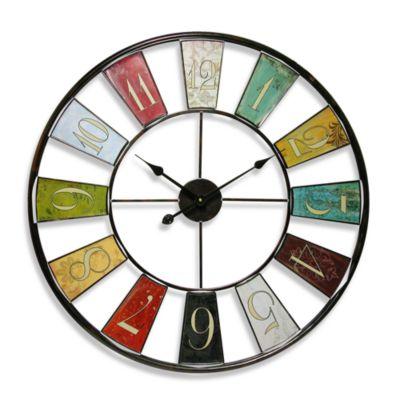 Infinity Instruments Kaleidoscope 24-Inch Wall Clock