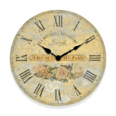 Boutique Roses Wall Clock