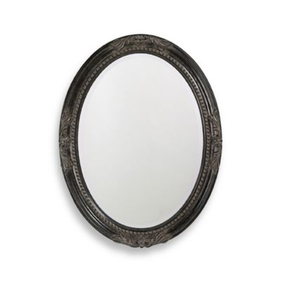 Howard Elliott Queen Anne Antique Black Wall Mirror
