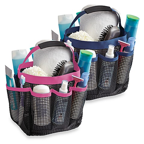 Mesh Shower Tote - Zebra