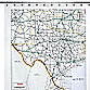 Texas Map 72-Foot-Foot x 72-Foot-Foot Vinyl Shower Curtain