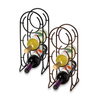 Spectrum Horseshoe 3-Bottle Metal Wine Rack