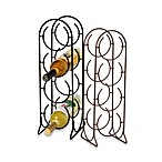 Spectrum Horseshoe 4-Bottle Metal Wine Rack