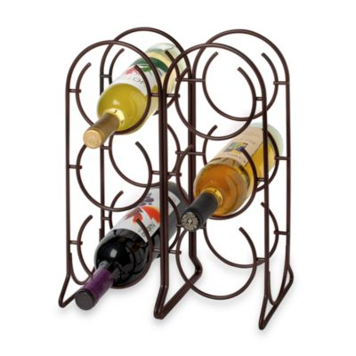 Spectrum Horseshoe 6-Bottle Metal Wine Rack in Bronze
