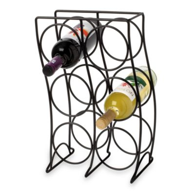 Black 6 Bottle Wine Rack
