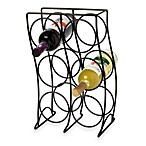Black 6-Bottle Wine Rack