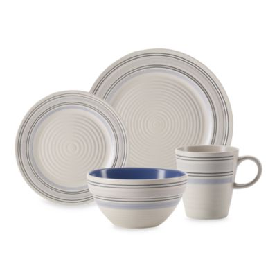 Pfaltzgraff® Rio Swirl Blue 16-Piece Place Setting