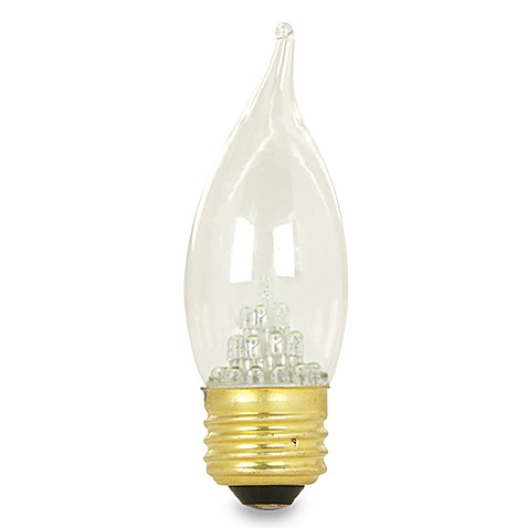 LED Clear Flame Tip Chandelier Bulb with Standard Base