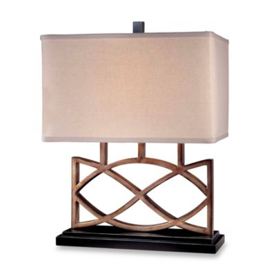 Ambience 24-Inch Silver/Black Table Lamp