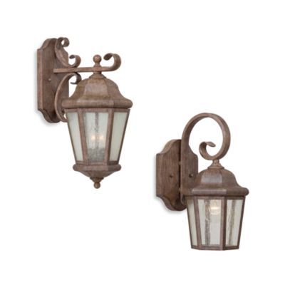 Minka Avery Small Seedy Glass Outdoor Lantern